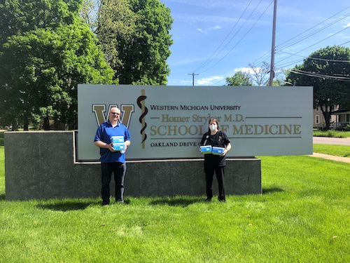WMed Health recently received 5,000 surgical masks to help in the fight against the COVID-19 pandemic.