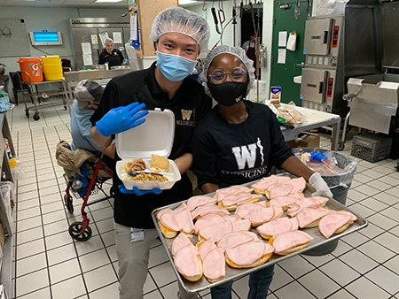 WMed Students During Day of Service