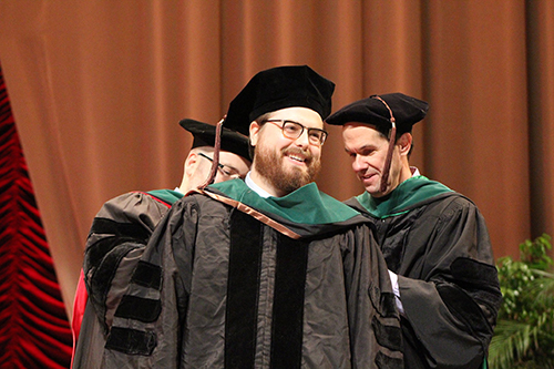 Dr. Eric Edewaard at WMed commencement on May 13, 2018
