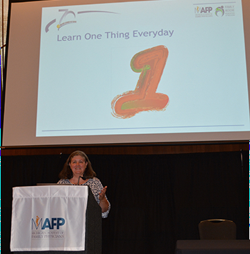 Dr. Lisa Graves at 2018 MAFP Conference