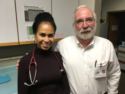 Dr. Cheryl Dickson and Dr. Don Bouchard